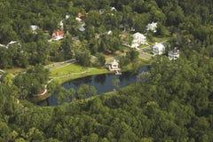 Vista aérea da vizinhança Foto de Stock Royalty Free