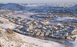 Vista aérea da vizinhança Fotos de Stock