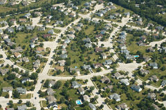 Vista aérea das casas, casas, subúrbio fotos de stock royalty free