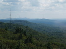 Vista aérea das cordilheiras e dos vales Fotografia de Stock