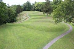 Vista aérea das curvas do monte da serpente Fotografia de Stock Royalty Free