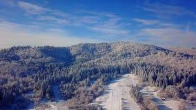 Vista aérea das montanhas filme