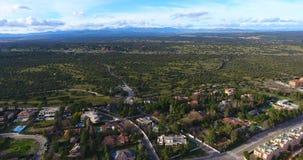 Vista aérea das montanhas video estoque