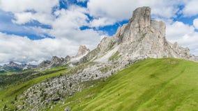 Vista aérea das montanhas das dolomites, Itália Foto de Stock Royalty Free