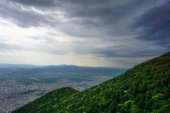 Vista aérea das montanhas de Uludag ao escalar fotos de stock royalty free