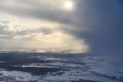 Vista aérea das nuvens tormentosos fotos de stock royalty free