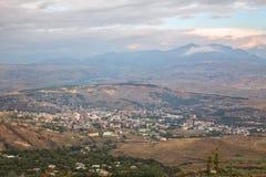 Vista aérea de Akhaltsikhe, Georgia fotos de archivo libres de regalías