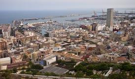 Vista aérea de Alicante Fotografía de archivo libre de regalías