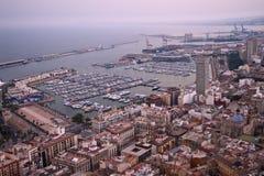 Vista aérea de Alicante Imagen de archivo libre de regalías