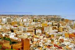 Vista aérea de Almería, España imagen de archivo libre de regalías