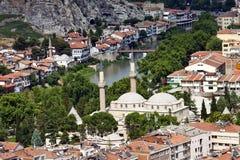 Vista aérea de Amasya Imagenes de archivo