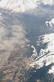 Vista aérea de Anchorage Fotografía de archivo libre de regalías