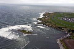 Vista aérea de Anglesey fotografia de stock royalty free