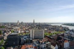 Vista aérea de Antuérpia, Bélgica Imagens de Stock