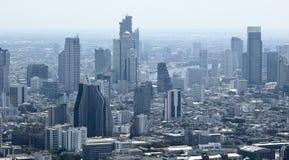 Vista aérea de arranha-céus modernos em Banguecoque Imagens de Stock Royalty Free