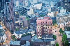 Vista aérea de arranha-céus de Vancôver, Canadá fotos de stock royalty free