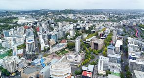 Vista aérea de Auckland central fotografia de stock royalty free
