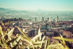 Vista aérea de Bérgamo Fotografía de archivo libre de regalías
