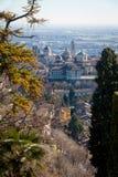 Vista aérea de Bérgamo Foto de archivo