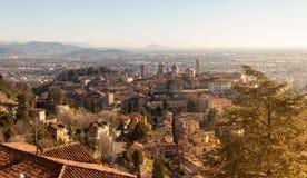 Vista aérea de Bérgamo Fotografía de archivo