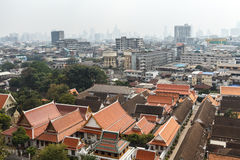 Vista aérea de Bangkok de Wat Saket Fotos de archivo libres de regalías
