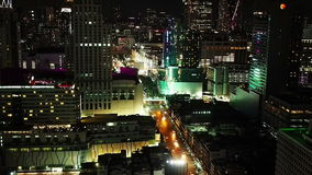 Vista aérea de Bangkok en la noche metrajes