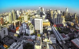 Vista aérea de Bangkok, Tailandia Imagen de archivo