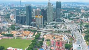 Vista aérea de Bangsar, Malásia video estoque