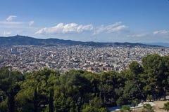 Vista aérea de Barcelona Foto de archivo libre de regalías