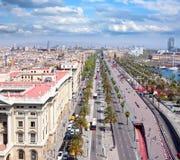 Vista aérea de Barcelona imagenes de archivo