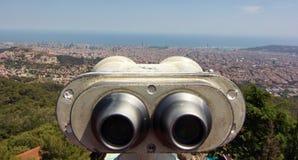 Vista aérea de Barcelona España Imágenes de archivo libres de regalías