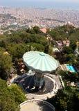 Vista aérea de Barcelona España Foto de archivo