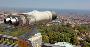 Vista aérea de Barcelona España Fotos de archivo