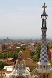 Vista aérea de Barcelona España del parque Guell fotografía de archivo