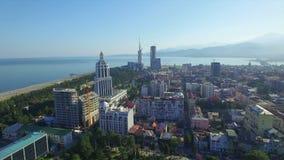 Vista aérea de Batumi almacen de metraje de vídeo