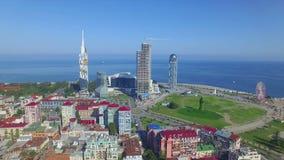Vista aérea de Batumi almacen de video