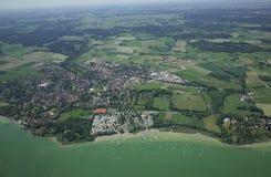 Vista aérea de Baviera Foto de archivo libre de regalías