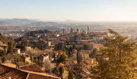 Vista aérea de Bergamo Fotografia de Stock