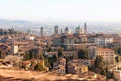 Vista aérea de Bergamo Foto de Stock