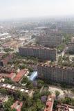 Vista aérea de bloques de apartamentos imágenes de archivo libres de regalías