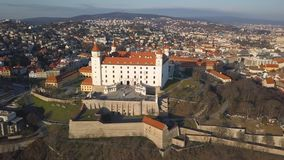 Vista aérea de Bratislavsky Hrad filme