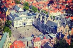 Vista aérea de Bruges (Bruges), Bélgica Imagem de Stock Royalty Free