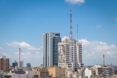 Vista aérea de Buenos Aires e de construção do Ministério da Saúde - Buenos Aires, Argentina Foto de Stock Royalty Free