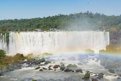 Vista aérea de cachoeiras de Iguazu Imagem de Stock