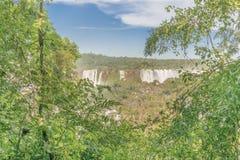 Vista aérea de cachoeiras de Iguazu Imagem de Stock Royalty Free