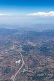 Vista aérea de California meridional Foto de archivo libre de regalías