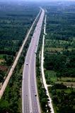 Vista aérea de caminos fotografía de archivo libre de regalías