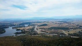 Vista aérea de Canberra Imagen de archivo libre de regalías