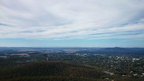 Vista aérea de Canberra Fotos de archivo libres de regalías
