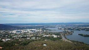 Vista aérea de Canberra Imagenes de archivo